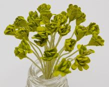 LIME GREEN GYPSOPHILA / FORGET ME NOT (Single Layer) Mulberry Paper Flowers